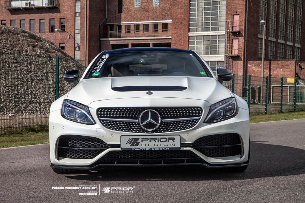 mercedes benz c class coupe w205 widebody by prior design. Black Bedroom Furniture Sets. Home Design Ideas