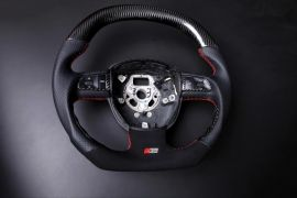 AUDI carbon fiber enhanced - custom steering wheel