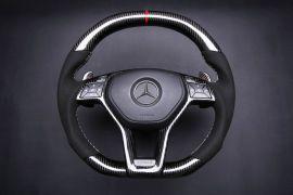 Mercedes-Benz carbon fiber enhanced - custom steering wheel