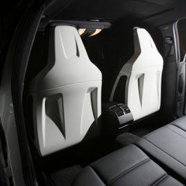 BOCA Design White seat covers for Mercedes Benz C63 AMG Sedan pre-facelift