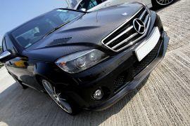 BOCA Design Carbon fiber bonnet with vents 'Type 1' double sided for Mercedes Benz C63 AMG Sedan pre-facelift