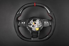 Volkswagen carbon fiber enhanced - custom steering wheel