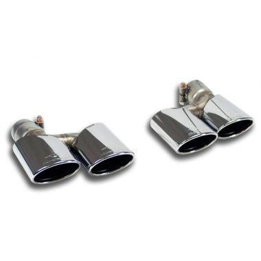 Supersprint  Endpipe kit Right - Left 120x80  MERCEDES W204 C 180 CGI (156 Hp) '09 '13