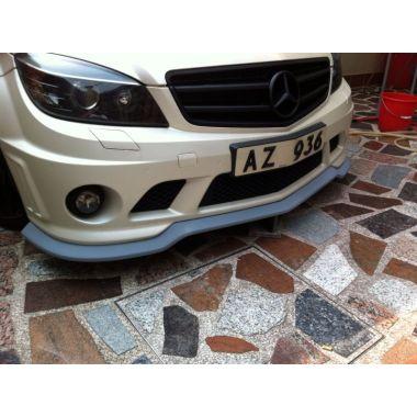 Carbon fiber front lip Style 2 for Mercedes Benz C63 AMG Sedan pre-facelift