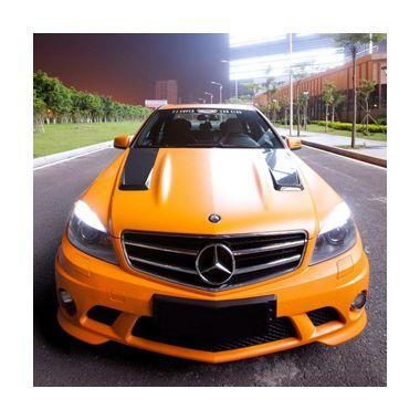 BOCA Design Carbon fiber bonnet with vents single sided 'Type 2' for Mercedes Benz C63 AMG Sedan pre-facelift