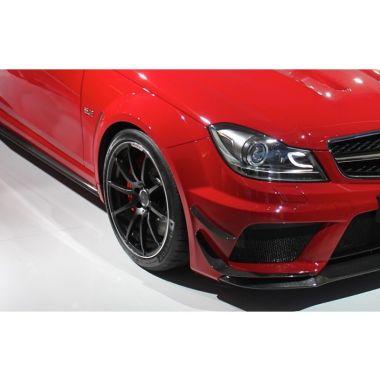 Mercedes Benz C63 AMG Black Series Carbon fiber front bar winglets