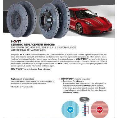 Ferrari MOV'IT Ceramic Replacement Rotors