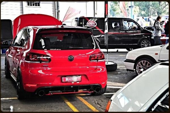 REVOZPORT carbon roof spoiler and diffuser - VW Golf 6 GTI