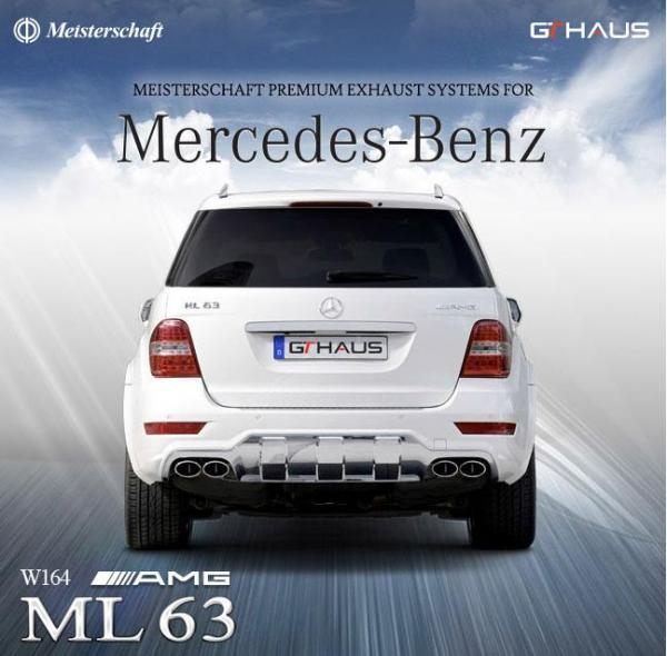 Meisterschaft exhaust system for Mercedes Benz ML 63 AMG (W164)