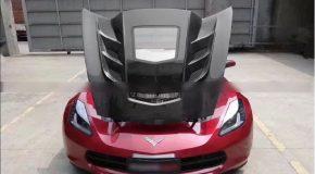 Corvette C7 Carbon Transparent Hood