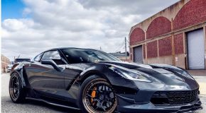 Corvette C7 Z06 Carbon front lip with small canards