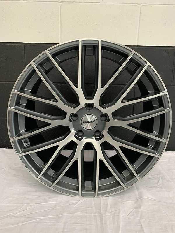 Single Riviera Wheel Grey With Machined Face 22x10J