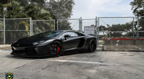 Stealth Mansory Lamborghini Aventador on Forgiato Wheels