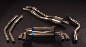 Titanium exhaust system for BMW 1M and other BMW M vehicles