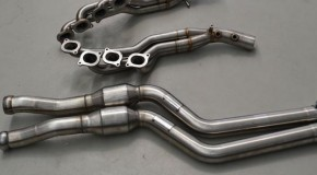CARGRAPHIC Mercedes C63 AMG longtube headers, downpipes and cats