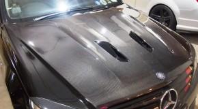 Black Series carbon bonnet for pre-facelift Mercedes C63 AMG