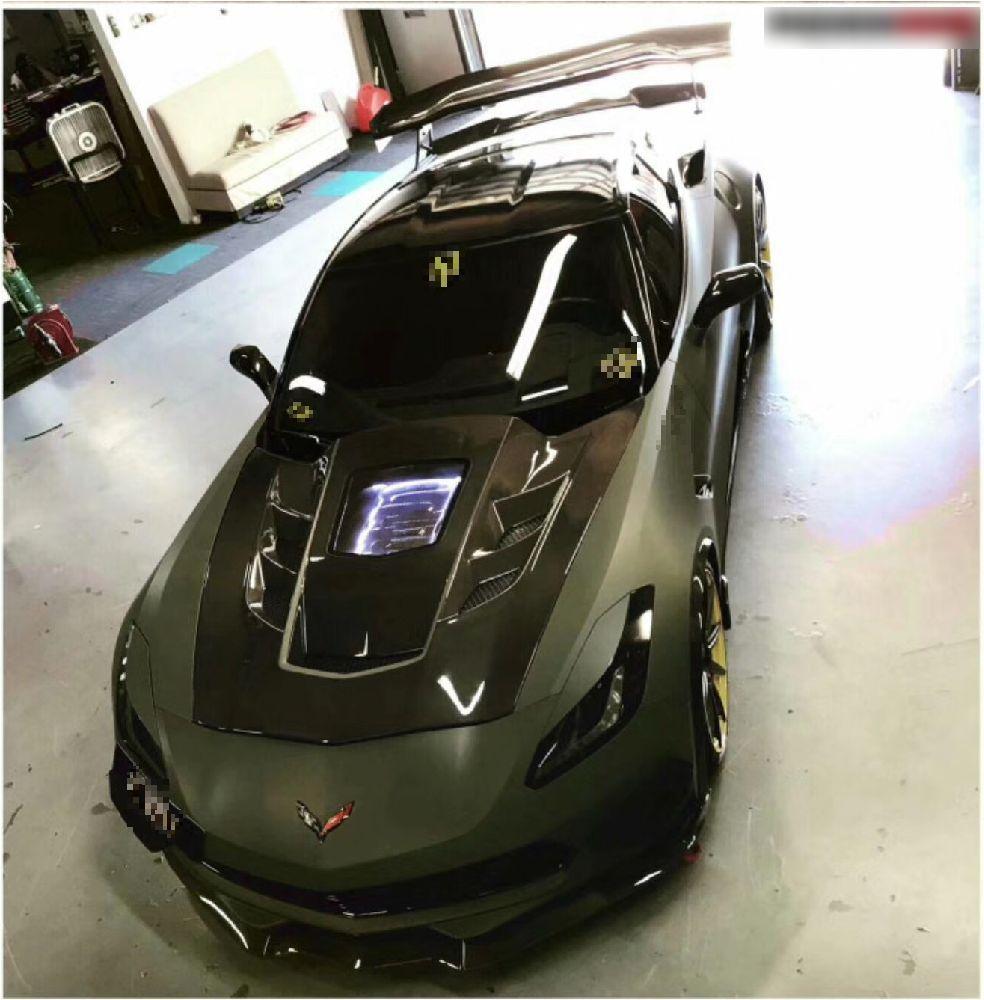 Corvette C7 Z06 RK front lip side skirts hood wing (2)_censored