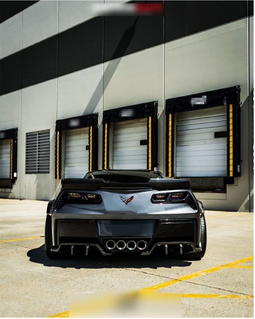 Corvette C7 Z06 hood Z06 front lip with small canards (10)
