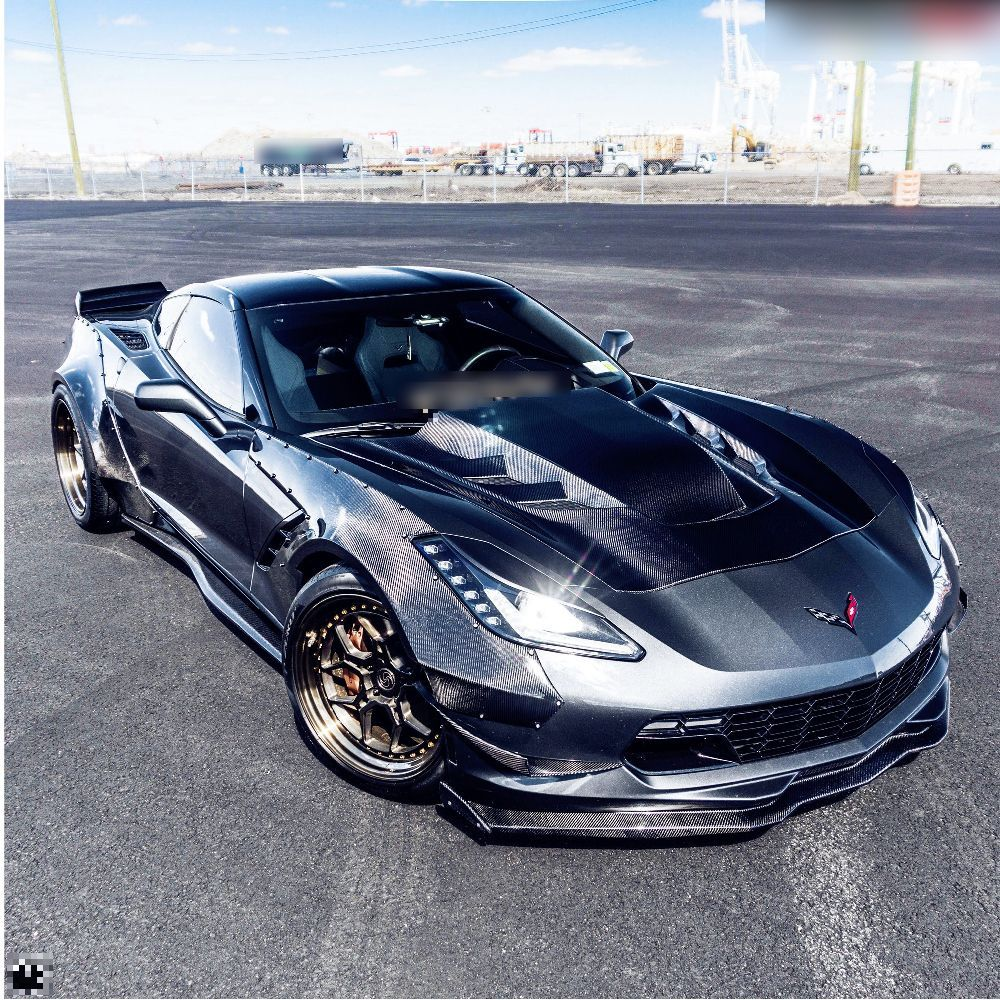 Corvette C7 Z06 hood Z06 front lip with small canards (15)