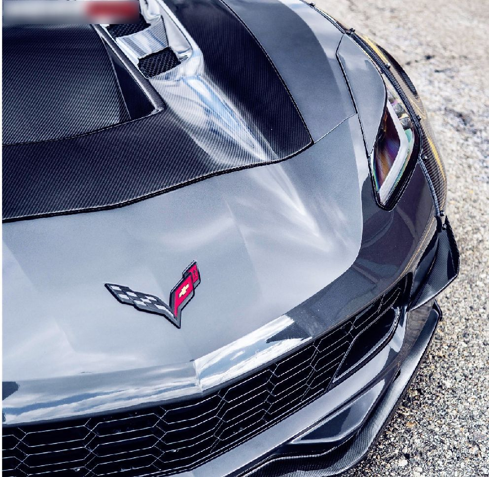 Corvette C7 Z06 hood Z06 front lip with small canards (17)
