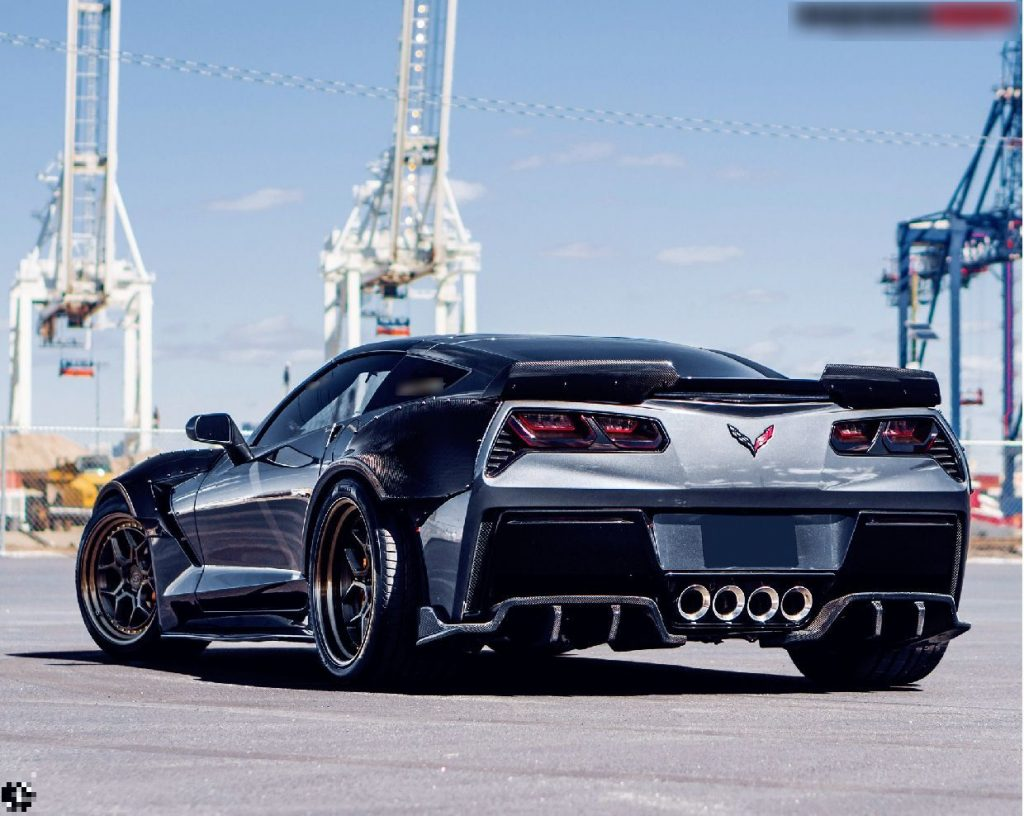 Corvette C7 Z06 hood Z06 front lip with small canards (19)