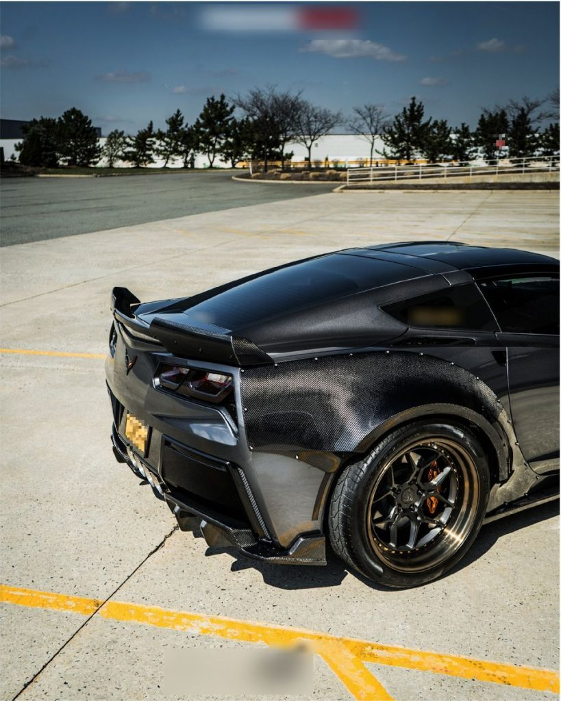 Corvette C7 Z06 hood Z06 front lip with small canards (8)