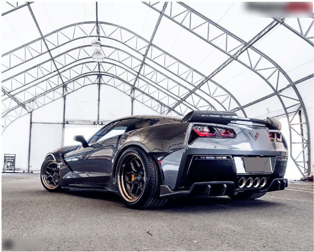 Corvette C7 Z06 hood Z06 front lip with small canards (9)