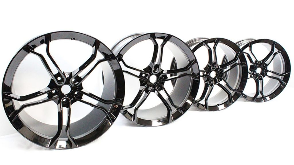 MCLAREN LIGHT WEIGHT 1 STEALTH ALLOY WHEELS ONLY IS MSO BLACK (3)