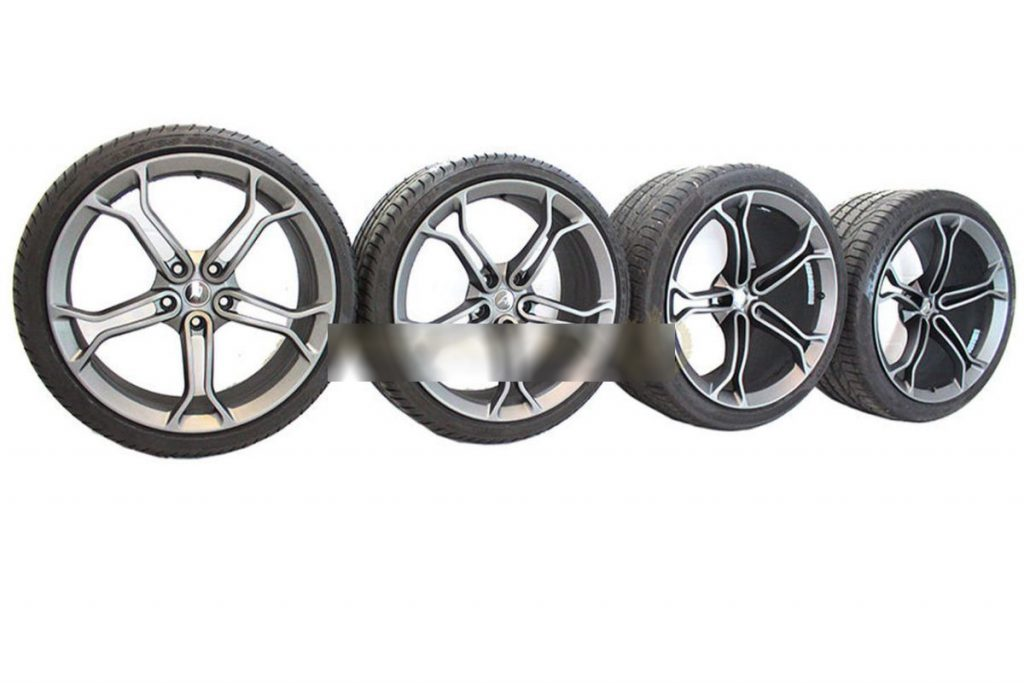 MCLAREN LIGHT WEIGHT STEALTH ALLOY WHEELS WITH DEMO TYRES (6)