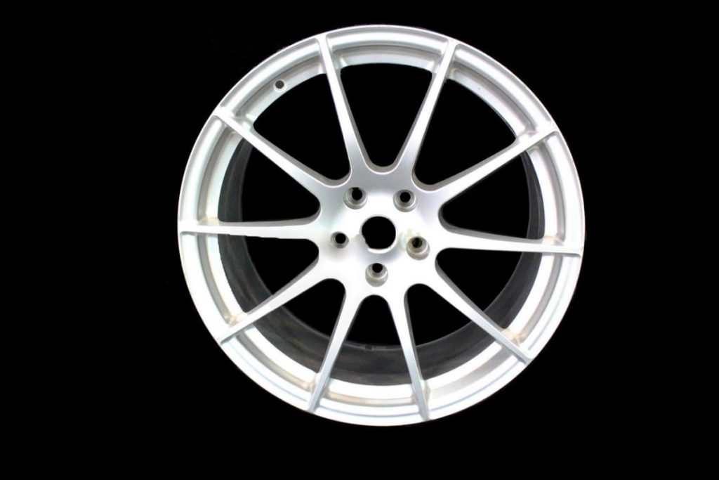 MCLAREN P1 FRONT 10 SPOKE ALLOY WHEEL 9.5 X 19 - SILVER (6)
